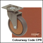 Zen castors in copper colourway