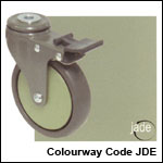 Zen castors in jade colourway
